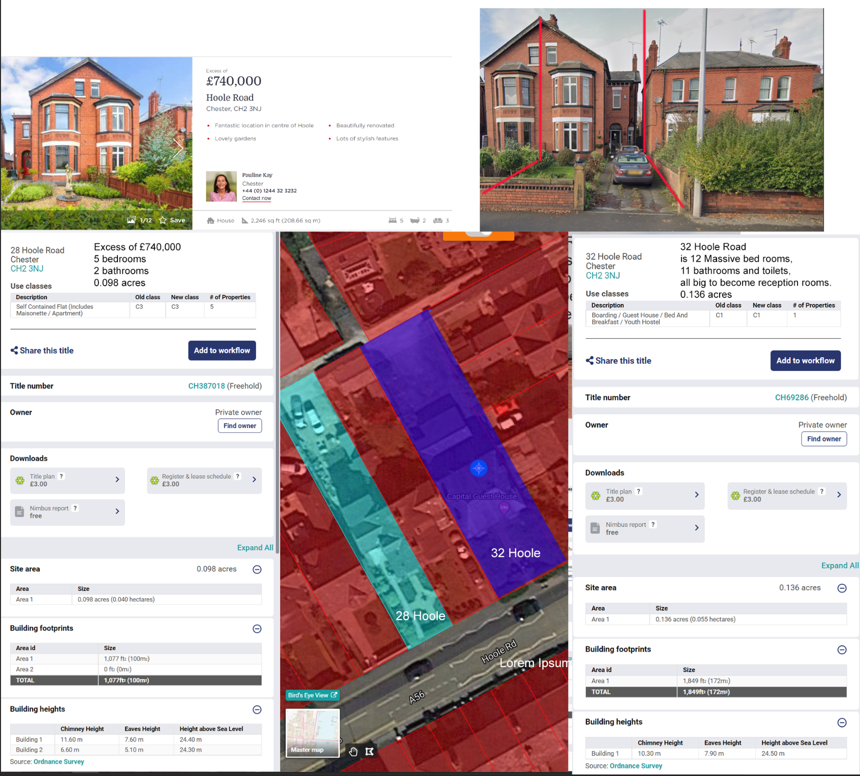 Spot the difference with 28 and 32 hoole road Chester image.